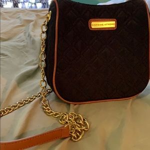 Adrienne Vittadini black with gold chain strap
